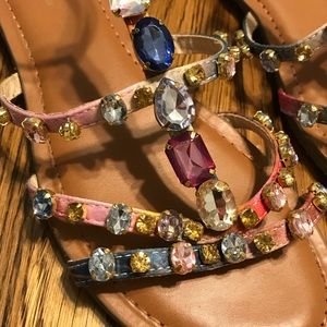 jewel rhinestone rainbow gypsy sandals